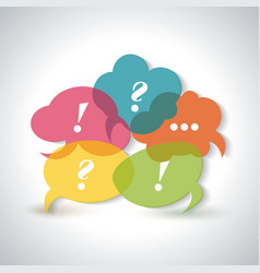 Speech bubbles icons with a question mark an vector
