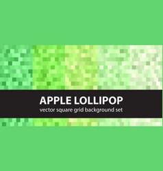 square pattern set apple lollipop seamless vector image vector image