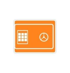 Stylish sticker on paper safe on white background vector