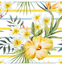 Tropical watercolor pattern vector