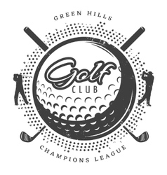 Vintage golf logotype vector
