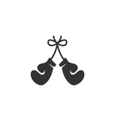 Boxing gloves icon isolated on a white background vector image