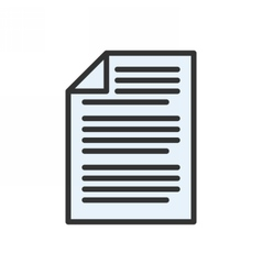 Business document icon vector