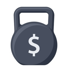Debt concept with kettlebell vector