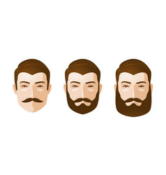 portrait of beautiful men man with beard and vector image