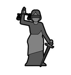 woman speaking on podium icon image vector image