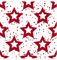 Red stars pattern with spots vector