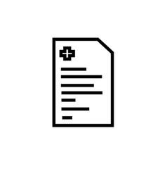 Diagnose icon vector