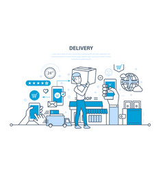 Cycle of ordering purchase of goods delivery vector