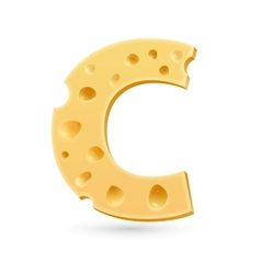 C cheese letter symbol isolated on white vector