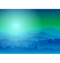 Mountain view at night vector