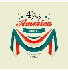 4 july swag bunting vector