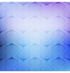 Blue sea geometric pattern texture on blurred vector