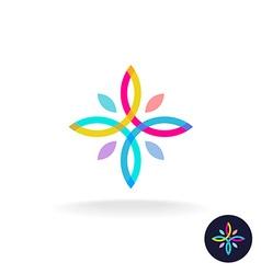 Flower people logo vector