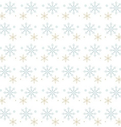 Snow flakes gray and gold on white background vector