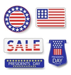 Presidents day icons vector