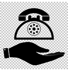 Retro telephone sign vector
