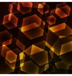 Hexagon digital technology yellow background vector