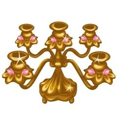 Gold Royal vintage lamp on white background vector image