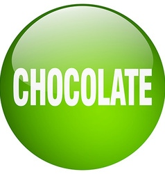 Chocolate green round gel isolated push button vector