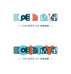 Abstract city logo vector