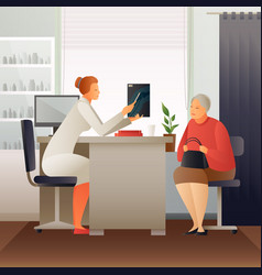 Appointment at therapist flat composition vector