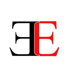 Artwork with alphabet E vector image vector image