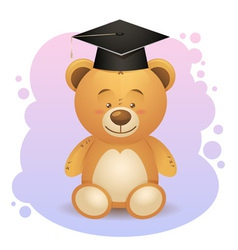 Back to school cute teddy bear toy vector