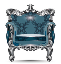 baroque luxury armchair furniture with victorian vector image