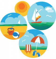 beach holiday vector image vector image