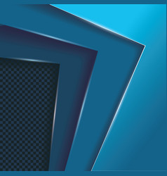 Blue layers overlap background with space for vector