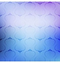Blue sea geometric pattern texture on blurred vector
