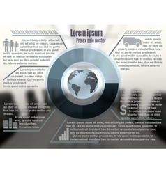 Business template with transparent layers vector image