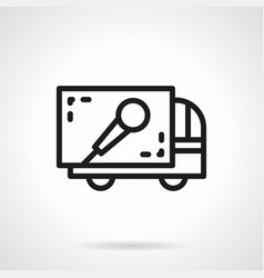 Concert equipment delivery simple line icon vector