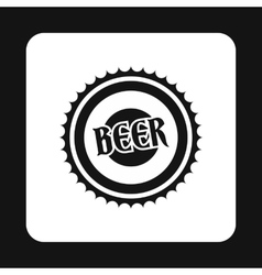 Cover beer icon simple style vector