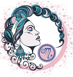 Decorative Zodiac sign Scorpio vector image vector image