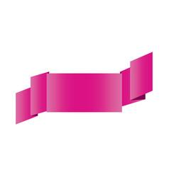 fushia shiny satin ribbon icon decorative vector image vector image