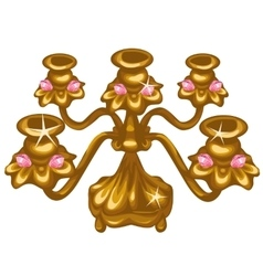 Gold Royal vintage lamp on white background vector image vector image