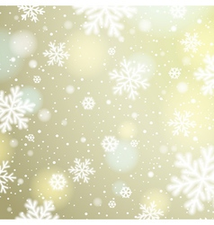 Light background with bokeh and blurred snowflakes vector