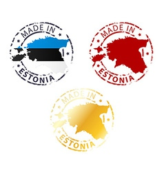 Made in estonia stamp vector