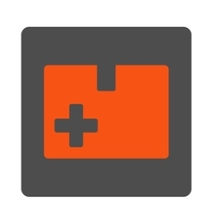 Medical Box Flat Button vector image