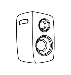 music party speaker vector image