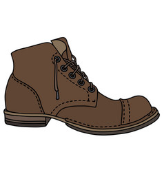 Old lacing shoe vector