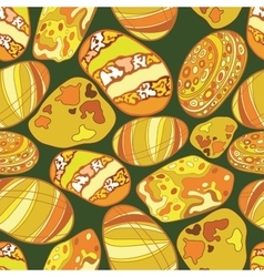 pattern of stones gold color vector image