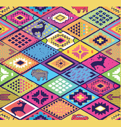 seamless ethnic pattern with rhombuses arrows and vector image vector image