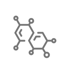Simple chemistry formula and molecule line icon vector