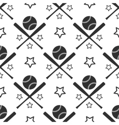 Sport seamless pattern baseball vector image vector image