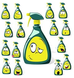 Spray bottle cartoon vector