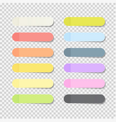 sticky office paper sheets notes pack collection vector image vector image