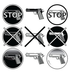 Stop selling use and illegal underage use guns vector